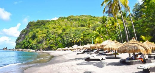 mejores lugares caribe vacacionar st lucia