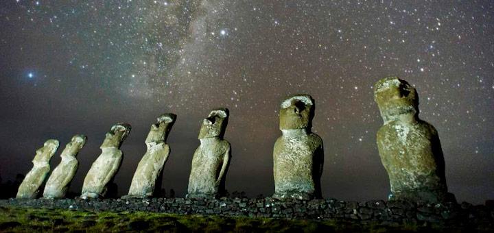 cielo nocturno isla de pascua